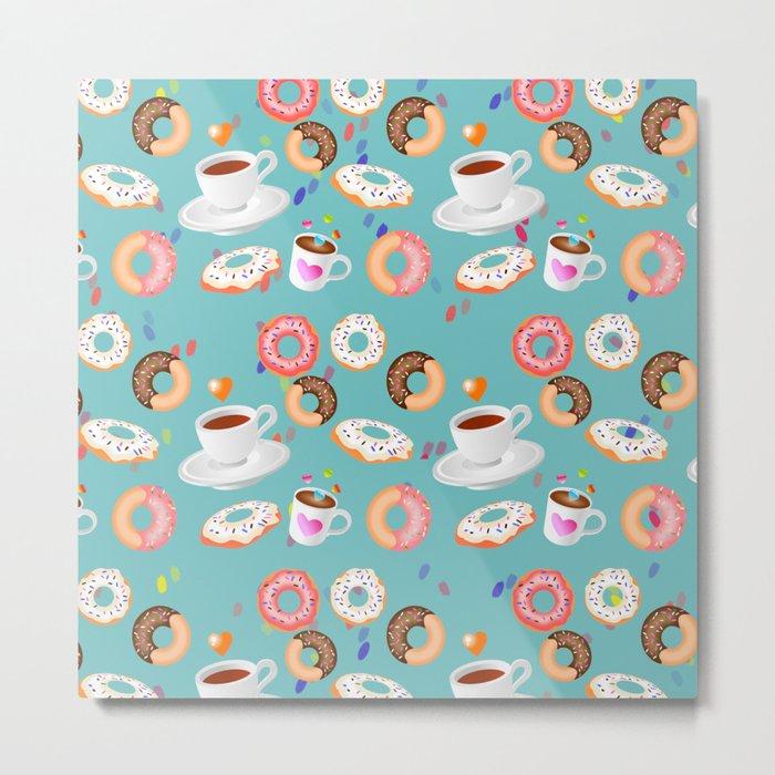 Coffee and Doughnuts Metal Print