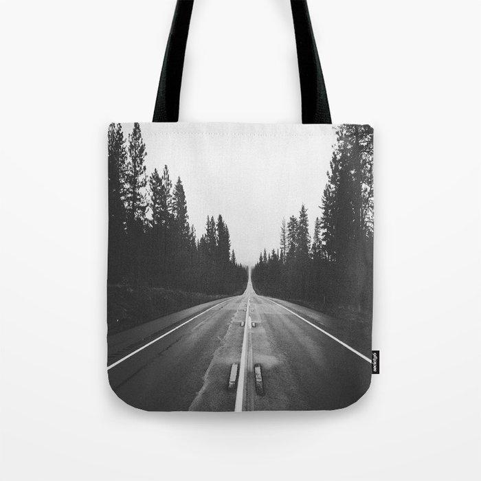 Grey road Tote Bag