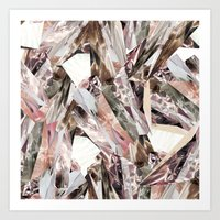 eye Art Prints featuring Arnsdorf SS11 Crystal Pattern by RoAndCo
