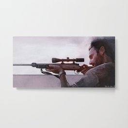 Rifleman Rick Grimes - The Walking Dead Metal Print