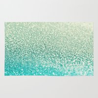 mint Area & Throw Rugs featuring MINT by Monika Strigel®