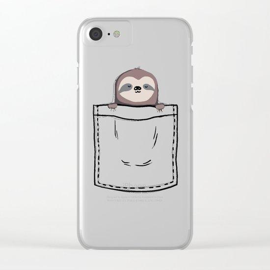My Sleepy Pet Clear iPhone Case