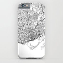 Toronto Map White iPhone Case