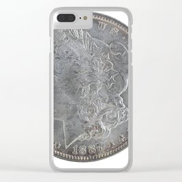 United States Morgan Silver Dollar Clear iPhone Case