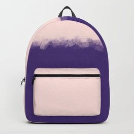 Modern purple blush pink watercolor colorblock Backpack