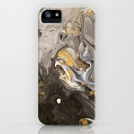 Acrylic pour #1 iPhone Case