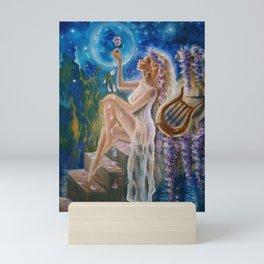 Sappho the poet and the rose Mini Art Print