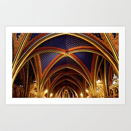 Sainte Chapelle  Art Print