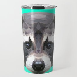 Raccoon // Mint Travel Mug
