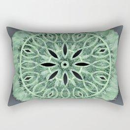 Mint Green 3D Faux Embroidery Rectangular Pillow