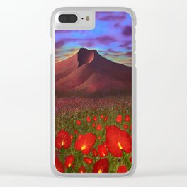 Flowers at Dusk Clear iPhone Case