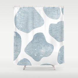 Large Giraffe chambray texture Shower Curtain