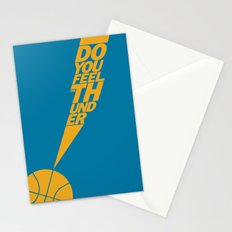 Do You Feel the Thunder? (Blue) Stationery Cards