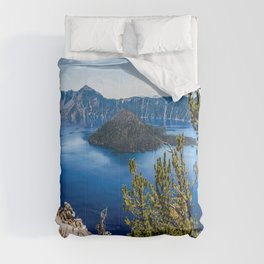 Deep Blue - Crater Lake on Summer Day in Oregon Comforters