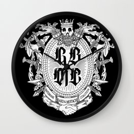 GBMC - The Gentlemans Beard and Mustache Coalition Wall Clock