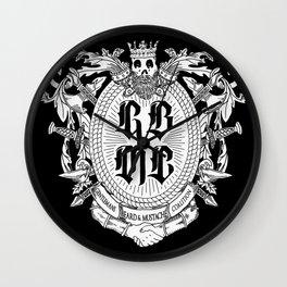 GBMC - The Gentlemans Beard and Mustache Coalition Wall Clock