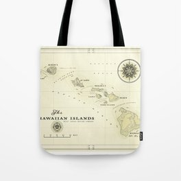 Hawaiian Islands [vintage inspired] map print Tote Bag