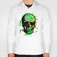 jamaica Hoodies featuring Jamaica circuit Skull. by seb mcnulty