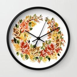 Autumn Crescent Wall Clock