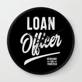 Loan Officer Job Title Gift Wall Clock