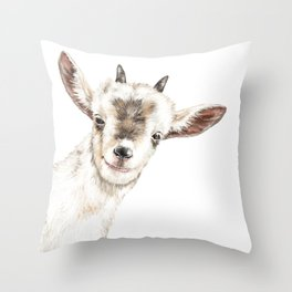 Oh My Sneaky Goat Throw Pillow