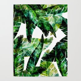 Green leaves of a banana. 2 Poster