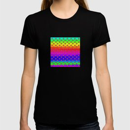 Rainbow and pink flowers T-shirt