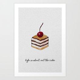 Life Is Short, Dessert Quote Art Print
