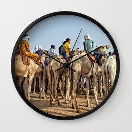 Nomads and camels - Niger, West Africa Wall Clock