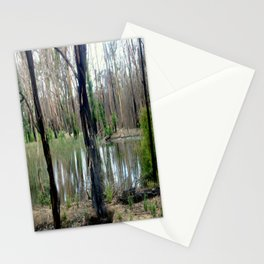Reflecting after a bush Fire Stationery Cards