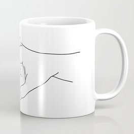 Hands line drawing illustration - Iris Coffee Mug