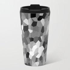 Black-and-white Metal Travel Mug