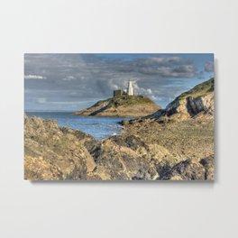 Swansea Lighthouse Mumbles Metal Print