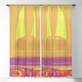 Hot Summer with May in May - shoes stories Sheer Curtain