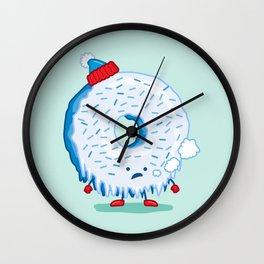 The Frigid Donut Wall Clock