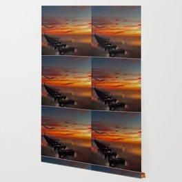 The Beach at Sunset (Digital Art) Wallpaper