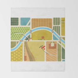 from above in the skies of Picardy Throw Blanket