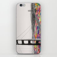 waves iPhone & iPod Skins featuring It's in the Water by Bianca Green