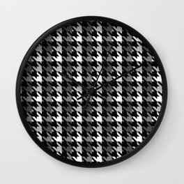 Houndstooth pattern with a shadow Wall Clock