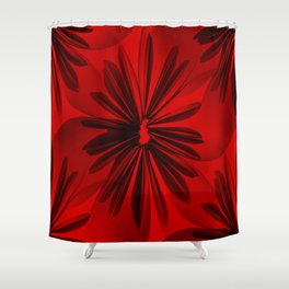 Red Origami Flowers #decor #society6 Shower Curtain