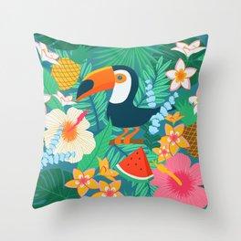 Tropical Flow Throw Pillow