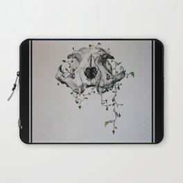 Animal Skull With Vines Laptop Sleeve