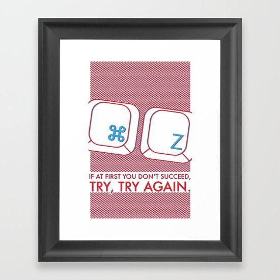 Undo Framed Art Print