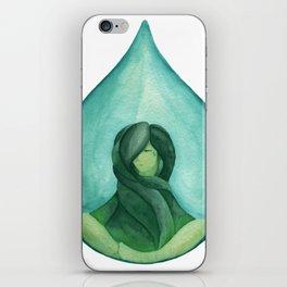 Tear Drop-Turquoise iPhone Skin