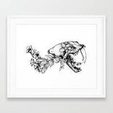 Prehistoric Bloom - The Cat Framed Art Print