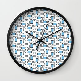 Gear Up - Blue Wall Clock