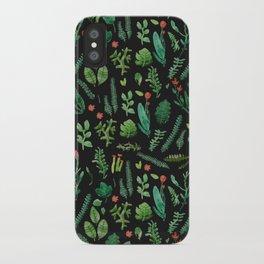 dark nature garden iPhone Case
