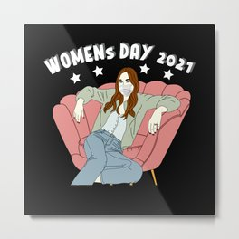 Women's Day With Mouth Guard Virus 2021 Metal Print