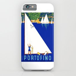 1941 PORTOFINO Italy Travel Poster iPhone Case