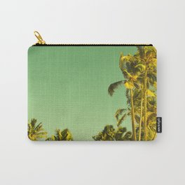 palm love in tropical green gold jewel tones Carry-All Pouch